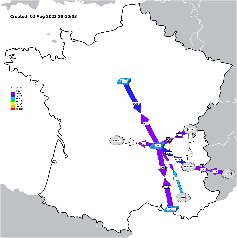 Etat du réseau Rezopole